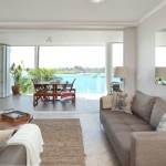 Noosa Quays open plan living with waterfront views