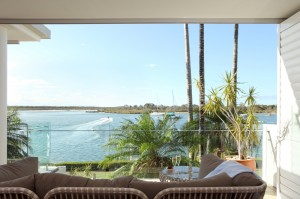 Champagne views for two from your waterfront balcony
