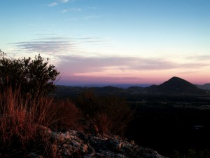 Mt Tinbeerwah Noosa beautiful at sunset