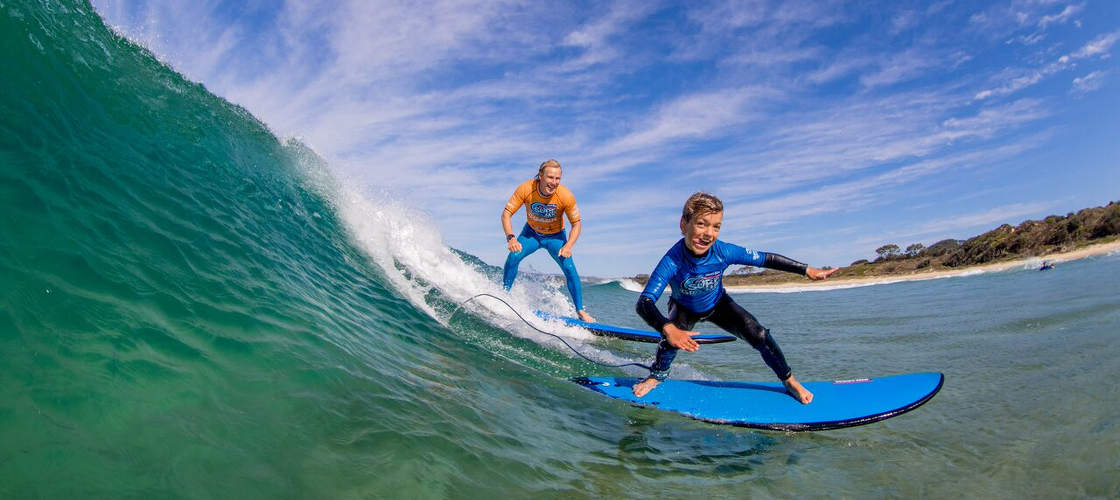 Learn to surf on the Sunshine Coast
